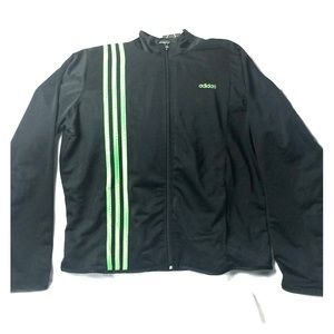 Adidas Zip Up Black Track Jacket XL